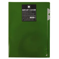 Office Supply Co Report Cover 3 Tabbed Pockets Green A4