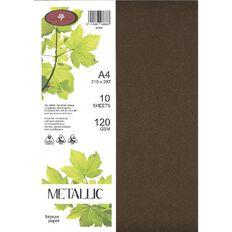 Direct Paper Metallic Paper 120gsm 10 Pack Bronze A4