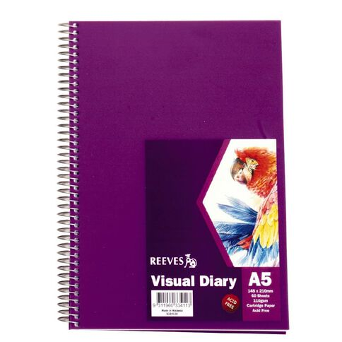 Reeves Visual Diary A5 Purple Purple A5