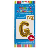 Artwrap Foil Balloon G Gold 35cm