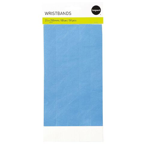 Impact Wristbands Blue 50 Pieces