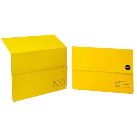 WS Manilla Document Wallet Foolscap Yellow