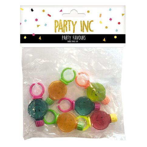 Party Inc Bubble Rings Mixed Assortment 6 Pack