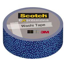 Scotch Washi Craft Tape 15mm x 10m Blue Dot Micro