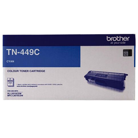 Brother Toner TN449C Cyan (9000 Pages)