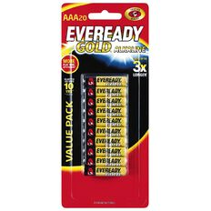 Eveready Gold Battery AAA 20 Pack