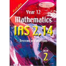 Nulake Year 12 Mathematics Ias 2.14 Systems Of Equations