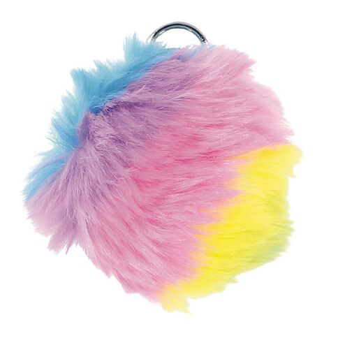 Kookie Furry Rainbow Key Ring