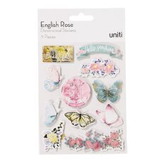 Uniti English Rose Dimensional Stickers