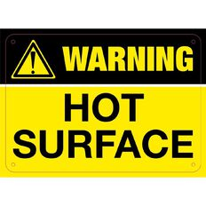 Impact Warning Hot Surface Sign Small 240mm x 340mm