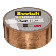 Scotch Washi Tape 15mm x 7m Foil Copper