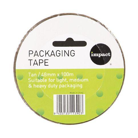 Impact Packaging Tape PP 48mm x 100m Tan