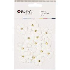 Rosie's Studio Paper Florette 18 Piece Assorted