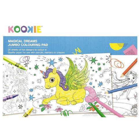 Kookie Jumbo Colouring Pad Magical Dreams 25 Sheet A3