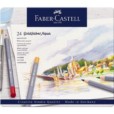 Faber-Castell Goldfaber Aqua Watercolour Pencils in Tin 24 Pack