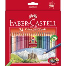 Faber-Castell Coloured Grip Pencils 24 Pack