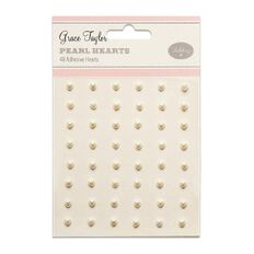 Grace Taylor Wedding Mini Heart Pearls 48 Pack
