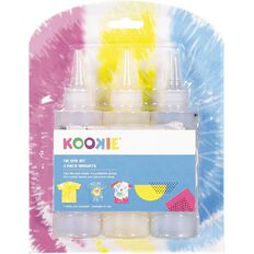 Kookie Tie Dye Kit Bright Multi-Coloured 3 Pack