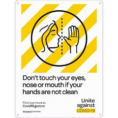 WS COVID Sign DON'T TOUCH EYES NOSE OR MOUTH