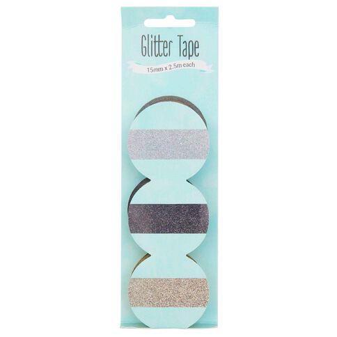 artwrap Paper Craft Washi Tape 3 Pack Glitter