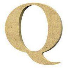 Sullivans Mdf Board Alphabet Letter 17cm Q Brown