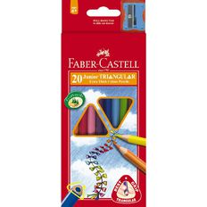 Faber-Castell Coloured Pencils Junior Triangular 20 Pack Multi-Coloured