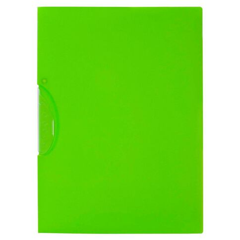 WS Swing Clip File Green A4