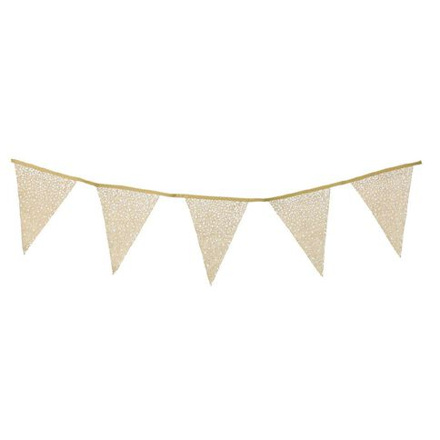 Party Inc Hessian 12 Flag Garland 3m