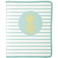 Uniti Tropical Pineapple Zipper Folder