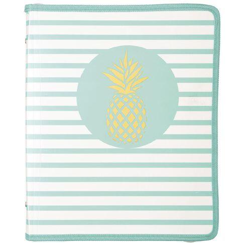 Uniti Tropical Pineapple Zipper Folder