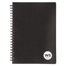 WS Notebook PP Wiro 200 Page Soft Cover Black A4