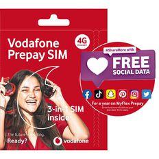 Vodafone 4G Prepay Triple SIM