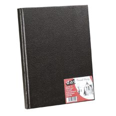 DAS Visual Diary Hardback A4 110 Sheets Black A4