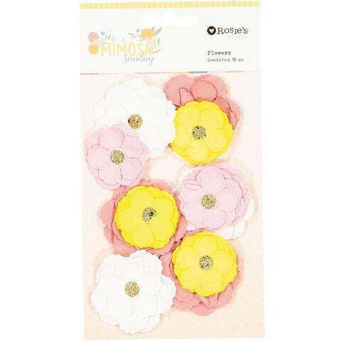 Rosie's Studio Mimosa Sunday Flowers 12 Piece