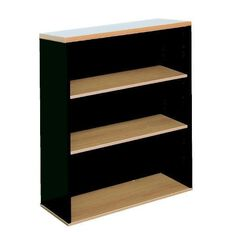 Firstline 3 Tier Bookcase Beech/Ironstone