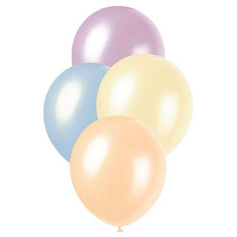 Unique Pearl Balloons 30cm 25 Pack Multi-Coloured