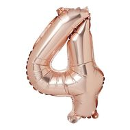 Artwrap Party Foil Balloon Number 4 Rose Gold 35cm