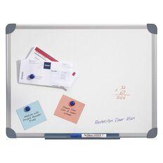 Penrite Magnetic Whiteboard 1200 x 900 Aluminium Frame White