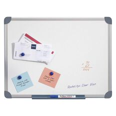 Penrite Magnetic Whiteboard 900 x 600 Aluminium Frame White