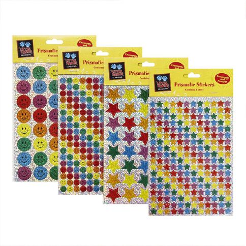 Little Hands Learning Prismatic Stickers Assorted