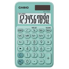 Casio SL310UCGN Hand Held 10 Digit Calculator Green