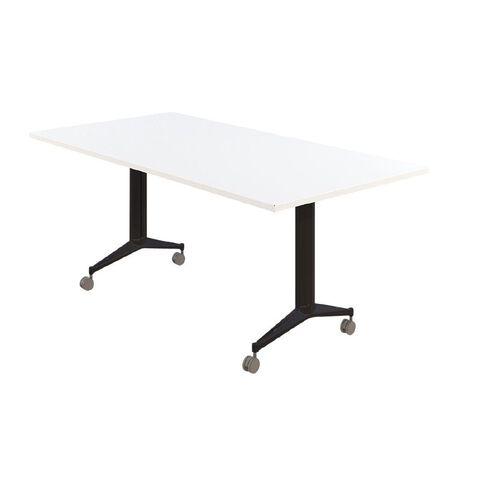 Accent Quick Ship Flip Table Black/Snow  1500 x 750