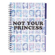 Disney Princess Spiral Notebook With Tab Light Blue A4