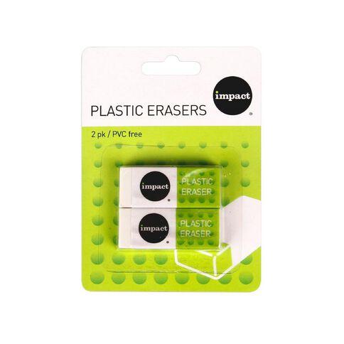 WS Eraser 2 Pack White