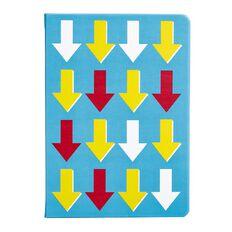 Uniti Fun & Funky Notebook Hardcover PU Arrow Blue Light A5