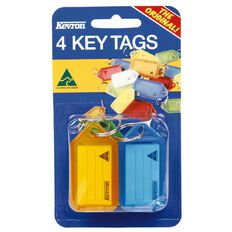 Kevron Key Tag Standard 4 Pack Assorted