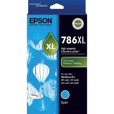 Epson Ink 786XL Cyan (2000 Pages)