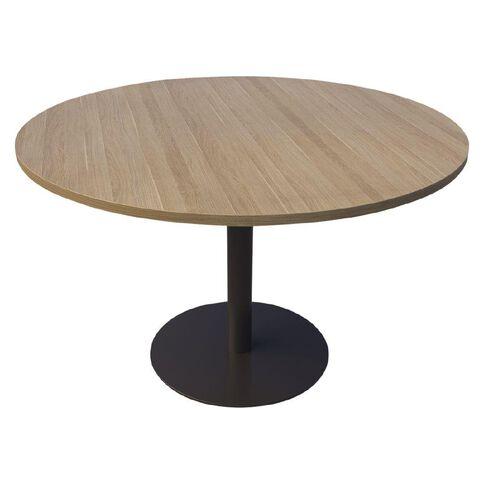 Classic Meeting Table Black & Classic Oak 800 Diameter
