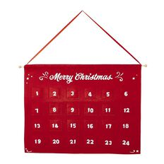 Wonderland Hanging Advent Calendar Red
