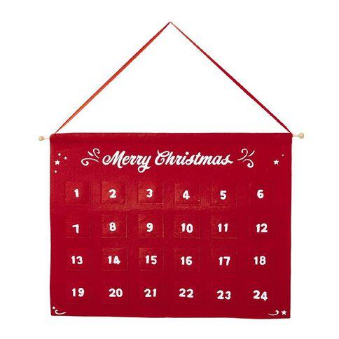 Wonderland Hanging Advent Calendar Red